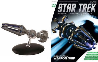 Star Trek Eaglemoss 22 Kremin Temporal Weapon Ship