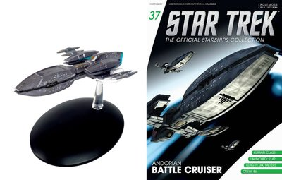 Star Trek Eaglemoss 37 Andorian Battle Cruiser