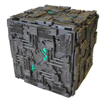 Eaglemoss Star Trek Oversized Light Up Borg Cube