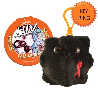 Giant Microbes Sleutelhanger HIV