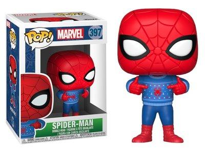 Funko POP! Vinyl Marvel 397 kerst Spiderman met kersttrui