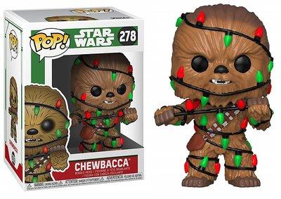 Funko POP! Vinyl Star Wars 278 kerst Chewbacca met kerstverlichting