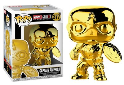 Funko POP! Vinyl Marvel MCU The First 10 Years 377 Chrome Captain America