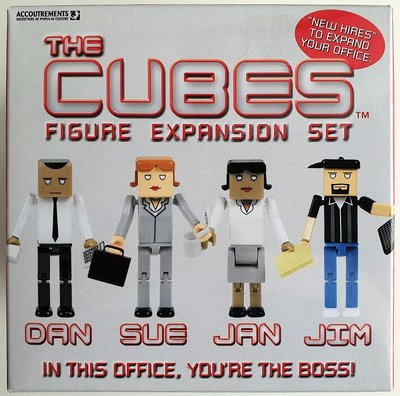 Cubes Dan-Sue-Jan-Jim Expansion set van 4 figuurtjes