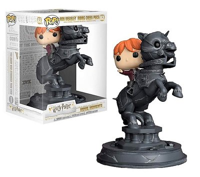 Funko Pop! Vinyl figuur - Fantasy Harry Potter Movie Moments 82 Ron Weasley Riding Chess Piece