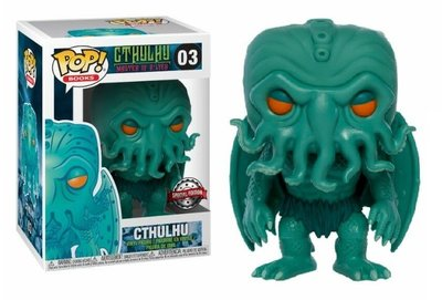 Funko Pop! Vinyl figuur - Horror Cthulhu Master of R'Lyeh 3 Cthulhu Neon Green Special Edition