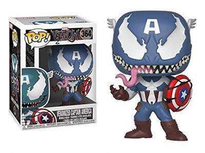 Funko Pop! Vinyl figuur - Marvel Venom 364 Capt. America Venomized