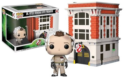 Funko Pop! Vinyl figuur - Scifi Ghostbusters 35th Anniversary 03 Dr. Peter Venkman with Firehouse