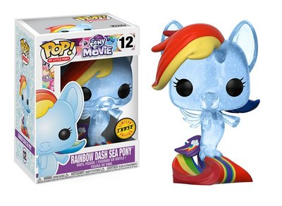 Funko Pop! Vinyl figuur - Animatie My Little Pony The Movie 12 Rainbow Dash Sea Pony Chase