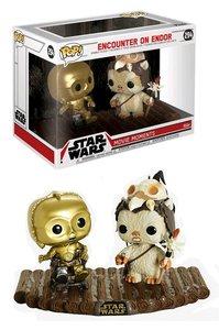 Funko Pop! Vinyl figuur - Star Wars Return of the Jedi Movie Moments 294 C-3PO, Ewok Encounter on Endor