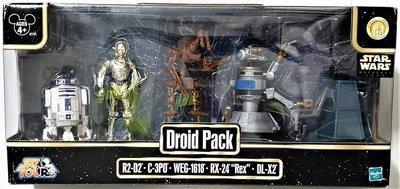 Hasbro actiefiguur - Star Wars Star Tours Star Wars Weekends 2008 87791 Droid Pack R2-D2, C-3PO, WEG-1618, RX-24, DL-X2