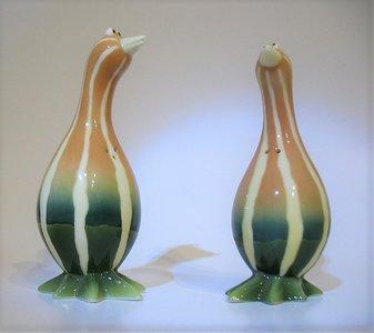 Enesco Home Grown Figurine - Fantasy Biology Stone Resin Squash Geese Salt and Pepper Shakers