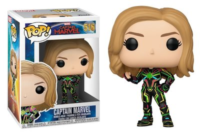 Funko Pop! Vinyl figuur - Marvel Captain Marvel 516 Captain Marvel with Neon Suit