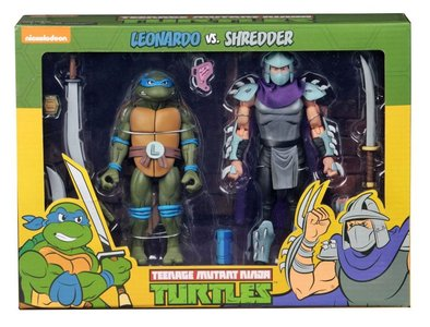 Neca actiefiguur - Actie Teenage Mutant Ninja Turtles Cartoon 54077 Leonardo vs. Shredder