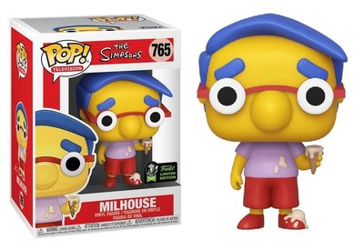 Funko Pop! Vinyl Figure - Animation The Simpsons Convention Exclusive 765 Milhouse Limited Edition