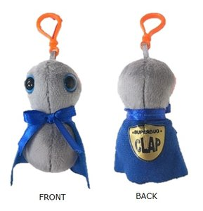 Giant Microbes Keychain - Science Biology Plush Clap Superbug