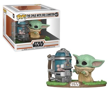 Funko Pop! Vinyl Figure - Star Wars The Mandalorian 407 The Child with Egg Canister