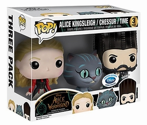 Funko POP! Disney Alice Chessur Time 3-pack Limited Edition
