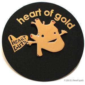 I Heart Guts reversspeld - Gouden hart (Golden heart)