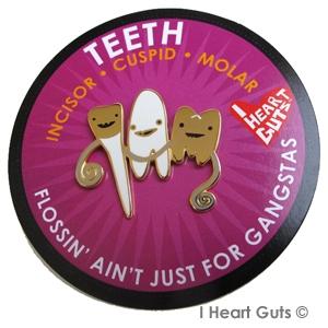I Heart Guts reversspeld - Tanden (Teeth)