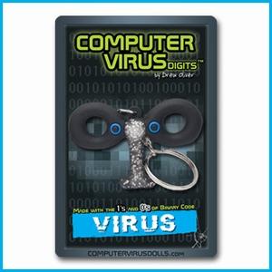 Computervirus sleutelhanger Virus