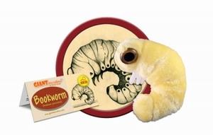 Giant Microbes Bookworm (boekenworm)
