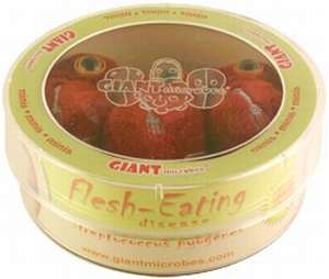 Giant Microbes Petri schaal Flesh eating