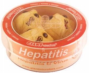 Giant Microbes Petri schaal Hepatitis