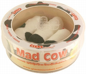 Giant Microbes Petri schaal Mad cow (Gekke koeien ziekte)