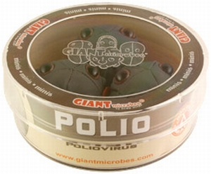 Giant Microbes Petri schaal Polio