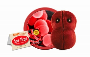 Giant Microbes Sore throat (zere keel)