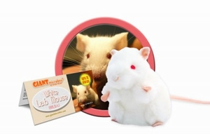 Giant Microbes White Lab Mouse (witte laboratorium muis)