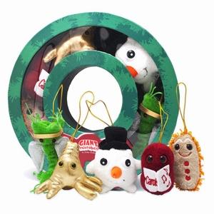 Giant Microbes Kerst krans (mini microbe box)