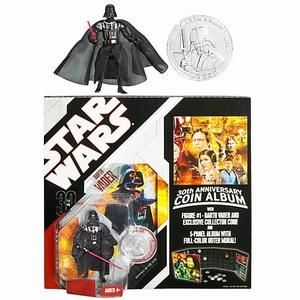 Darth Vader met verzamelboek voor Star Wars munten