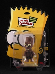 Bart Simpson 3 inch Qee Halloween: Treeman Bart Brown