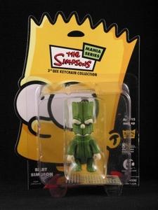 Bart Simpson 3 inch Qee Halloween: Treeman Bart Green