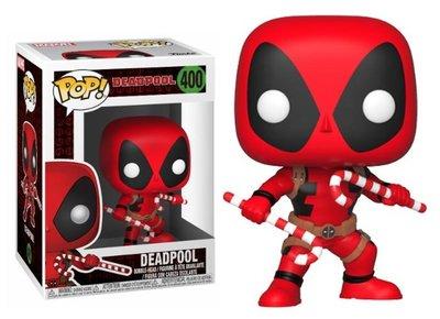 Funko POP! Vinyl Deadpool 400 kerst Deadpool met zuurstokken