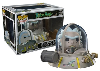 Funko POP! Vinyl Rides Rick & Morty 34 Rick's Ship