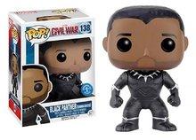 Funko Pop! Vinyl figuur - Marvel Captain America Civil War 138 Black Panther Unmasked Exclusive