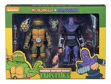 Neca actiefiguur - Actie Teenage Mutant Ninja Turtles Cartoon 54080 Michelangelo vs. Foot Soldier