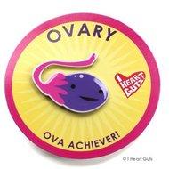 I Heart Guts lapel pin - Ovary