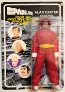 Space 1999 8 inch action figure Alan Carter Chief Pilot